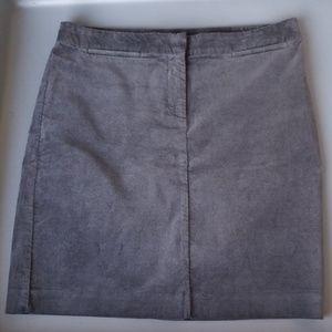 J Jill grey stretch velvet mini skirt size 8